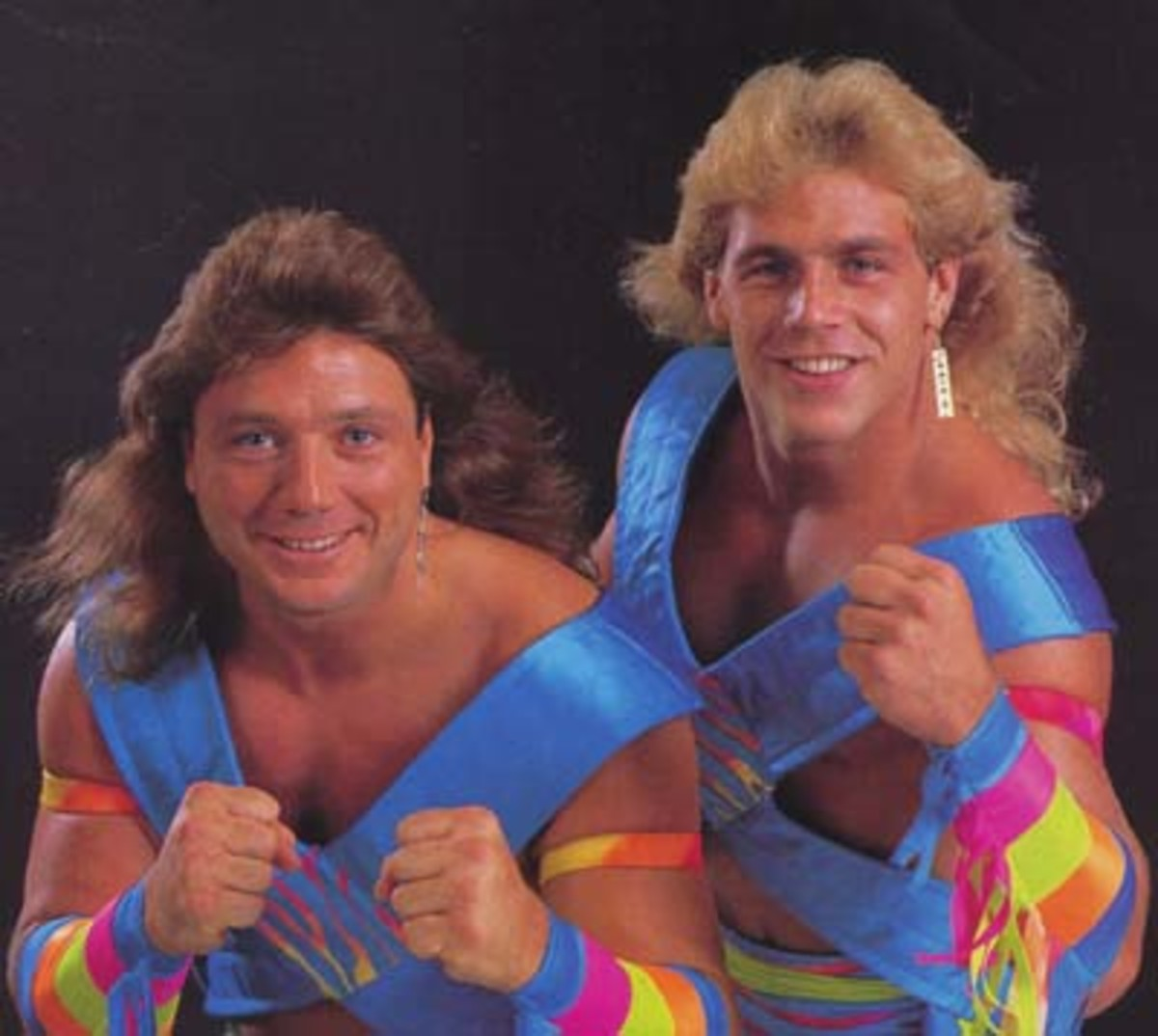 "Marty Jannetty and Shawn Michaels as ""The Rockers"""
