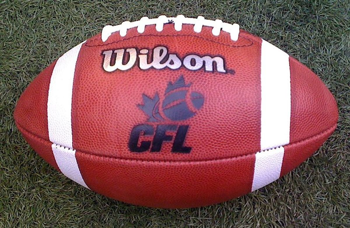 A regulation CFL football.