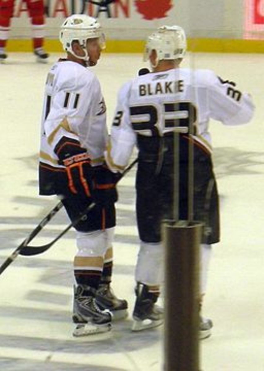 Saku Koivu and Jason Blake