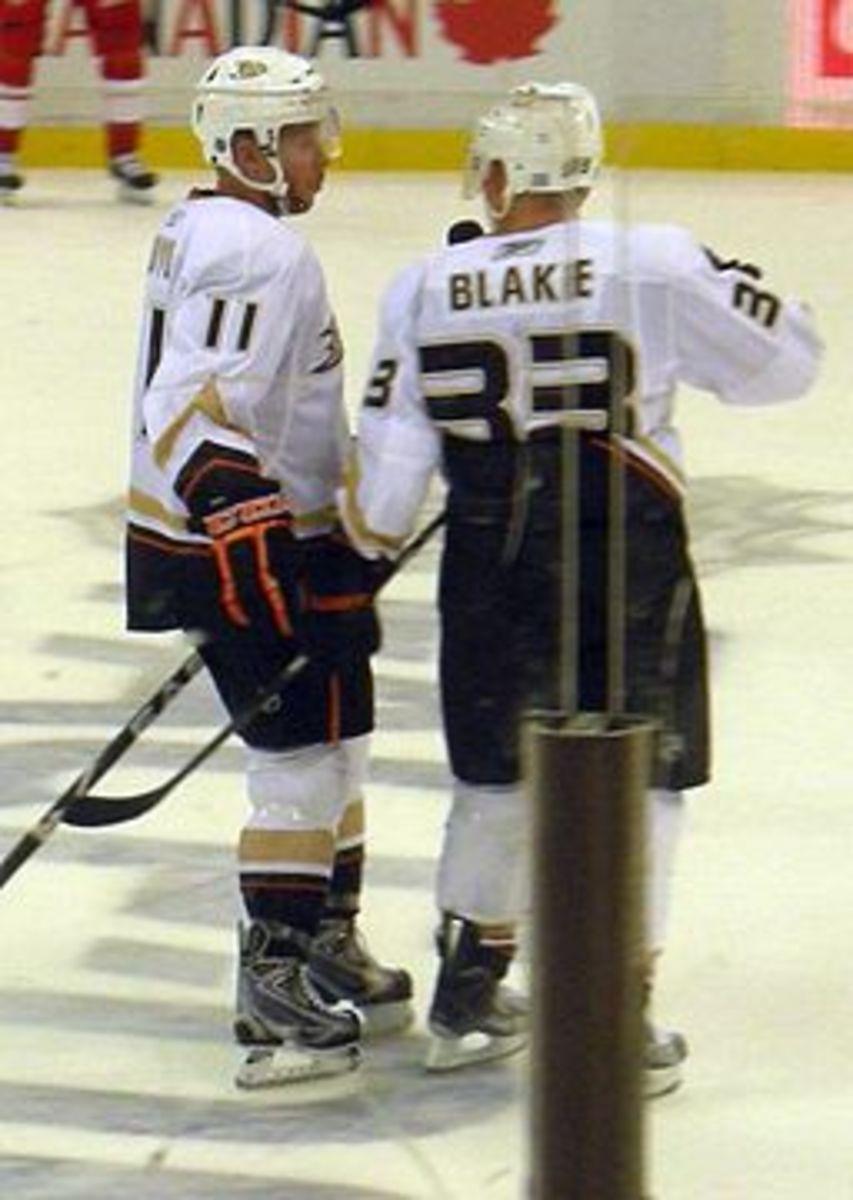 Saku Koivu and Jason Blake