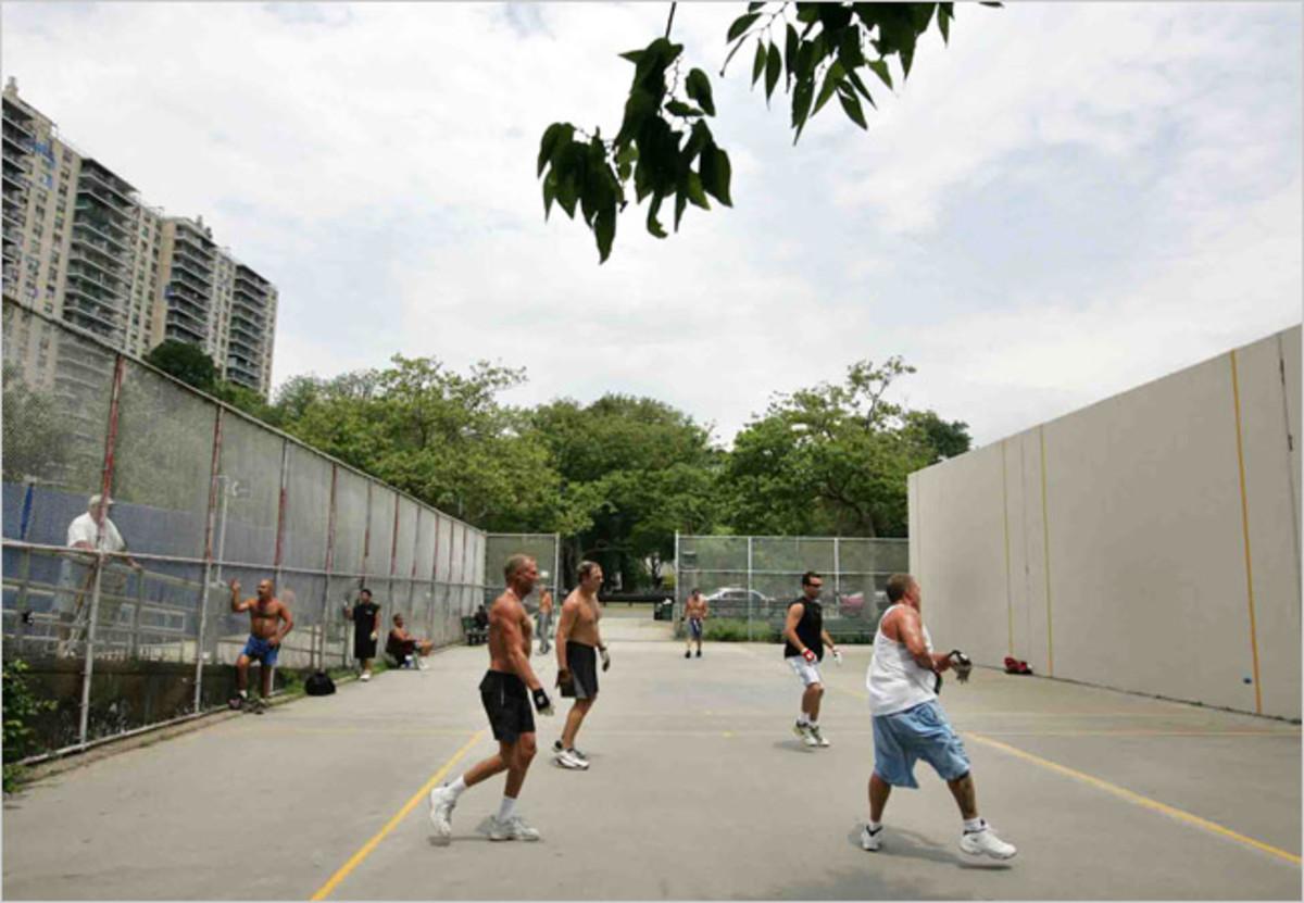 A handball court.