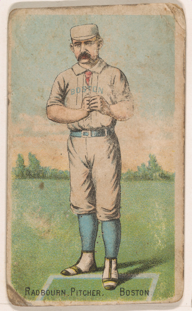 Old Hoss Radbourn Gold Coin Chewing Tobacco trading card 1887