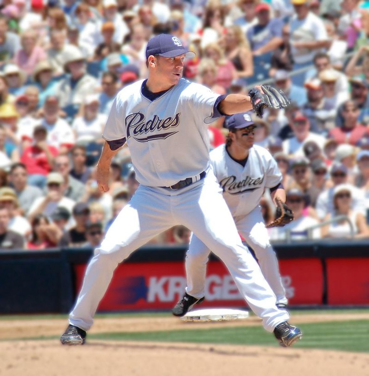 Jake Peavy pitching for the San Diego Padres, May 28, 2006.