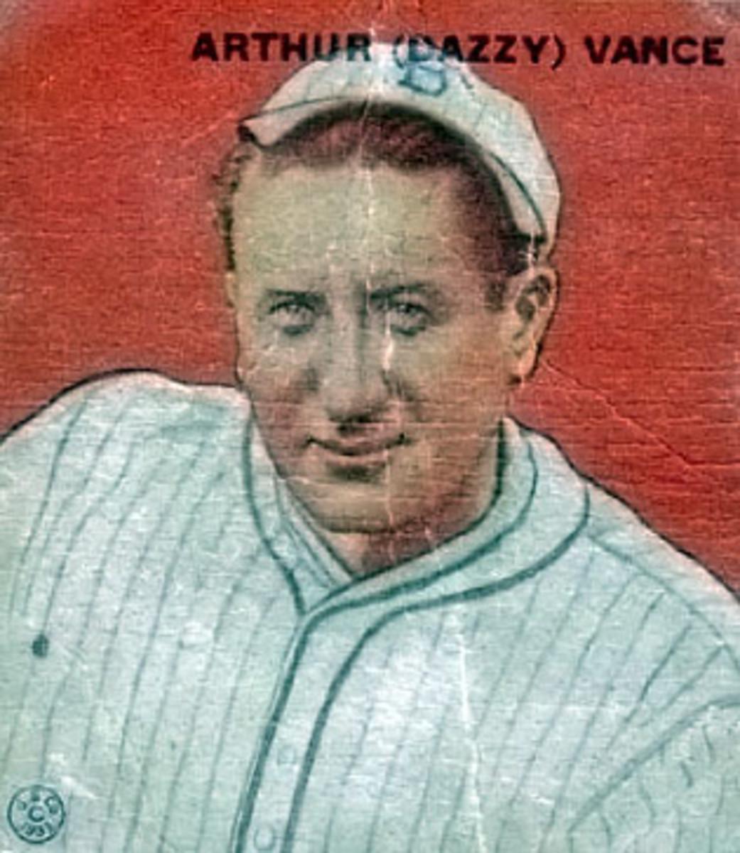 1933 Goudey Baseball Card of Dazzy Vance.