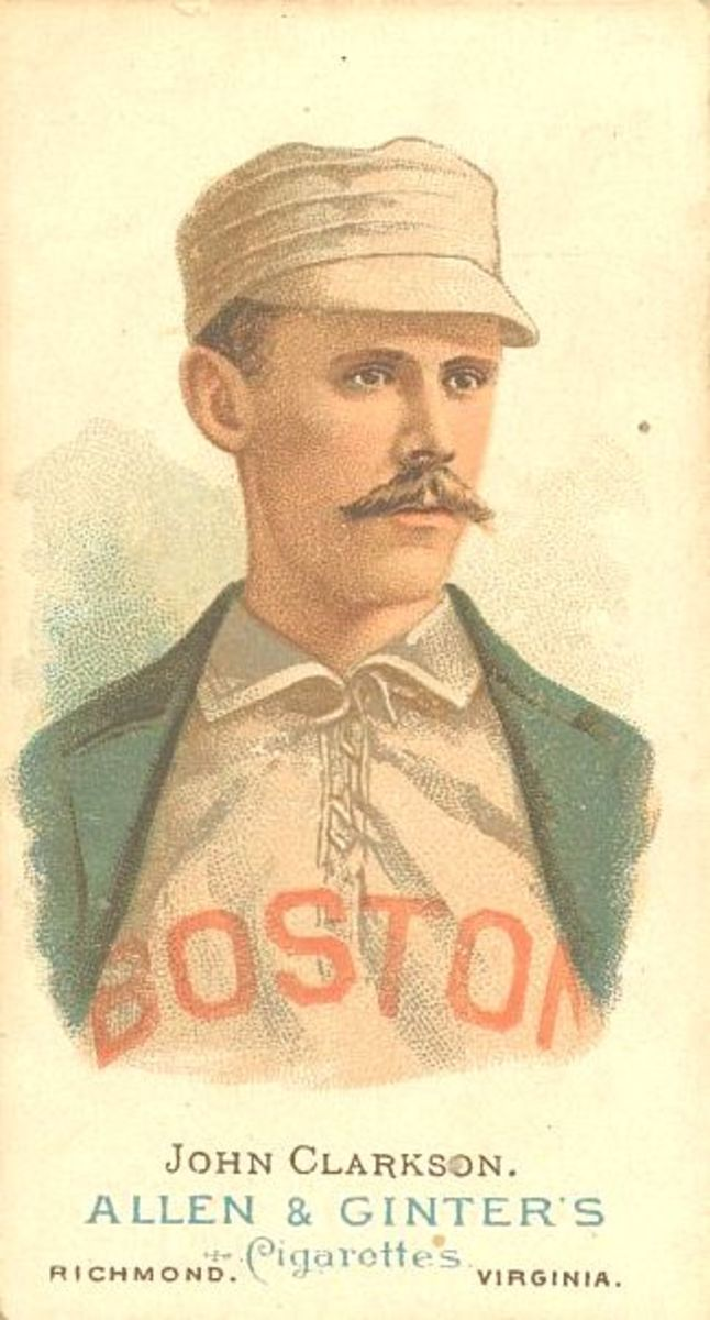 Allen & Ginter baseball card of John Clarkson, circa 1890.