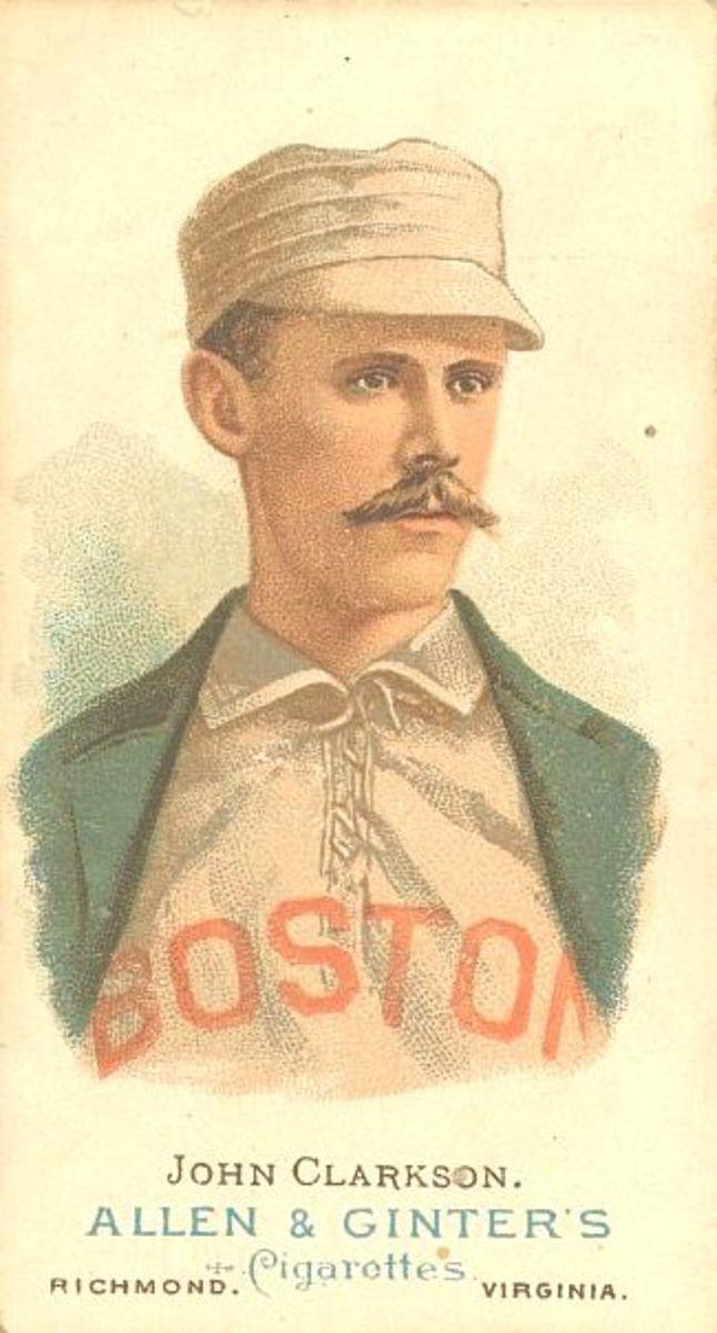 Allen & Ginter baseball card of John Clarkson, circa 1890.