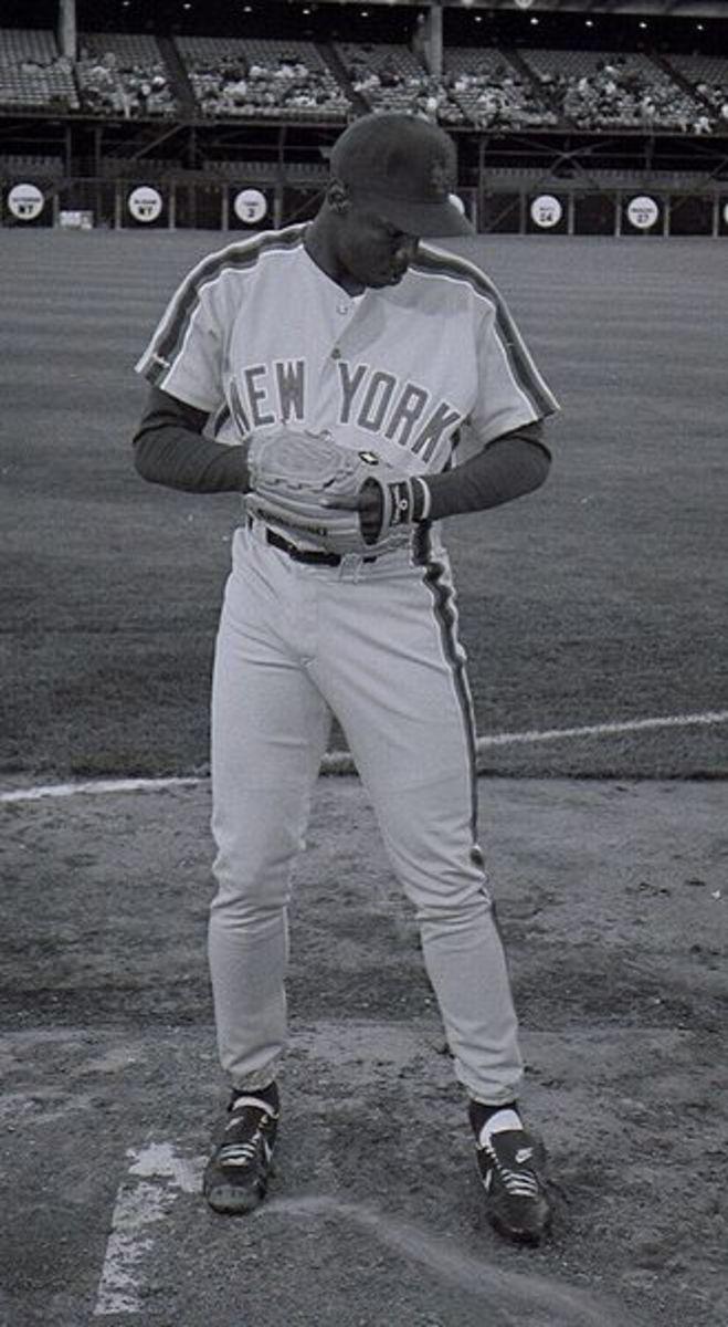 Dwight Gooden at Candlestick Park, San Francisco, April 1991.