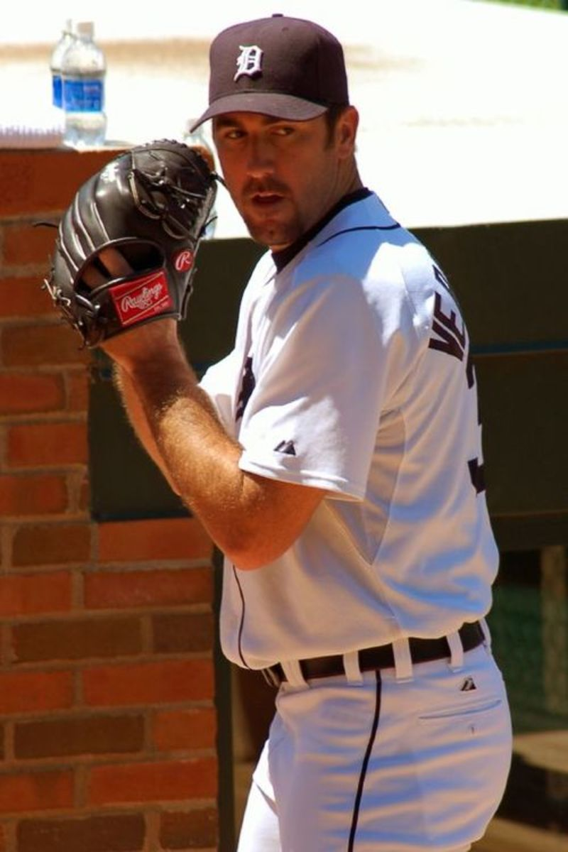 Pitching for the Detroit Tigers in 2011, Justin Verlander won the AL Triple Crown, Cy Young Award, and MVP Award.