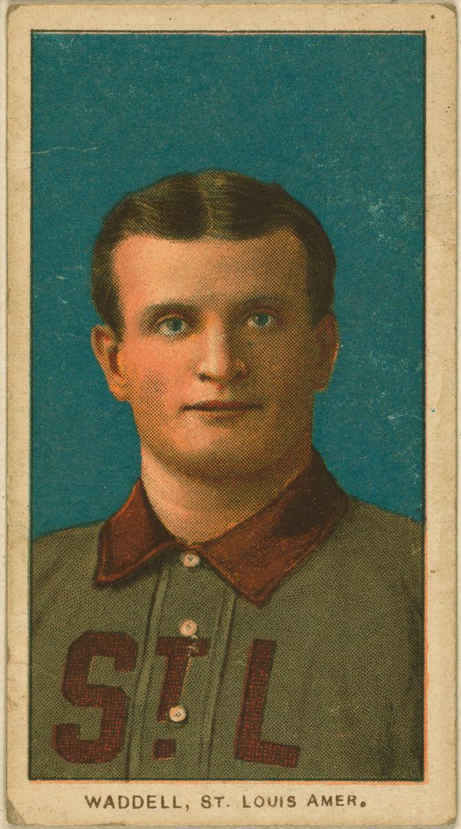 Rube Waddells American Tobacco Company baseball card 1909.