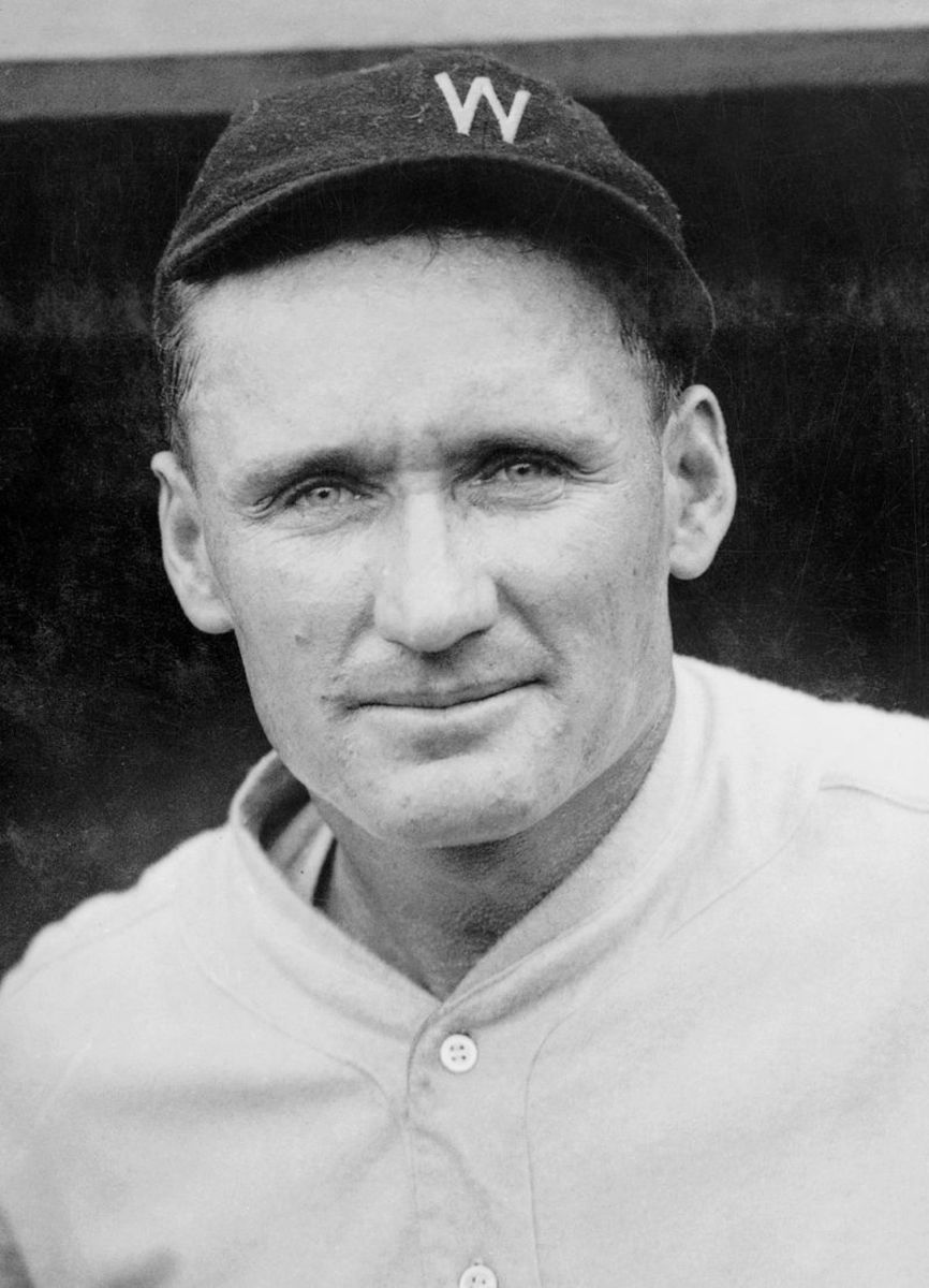Walter Johnson, ca. 1924.