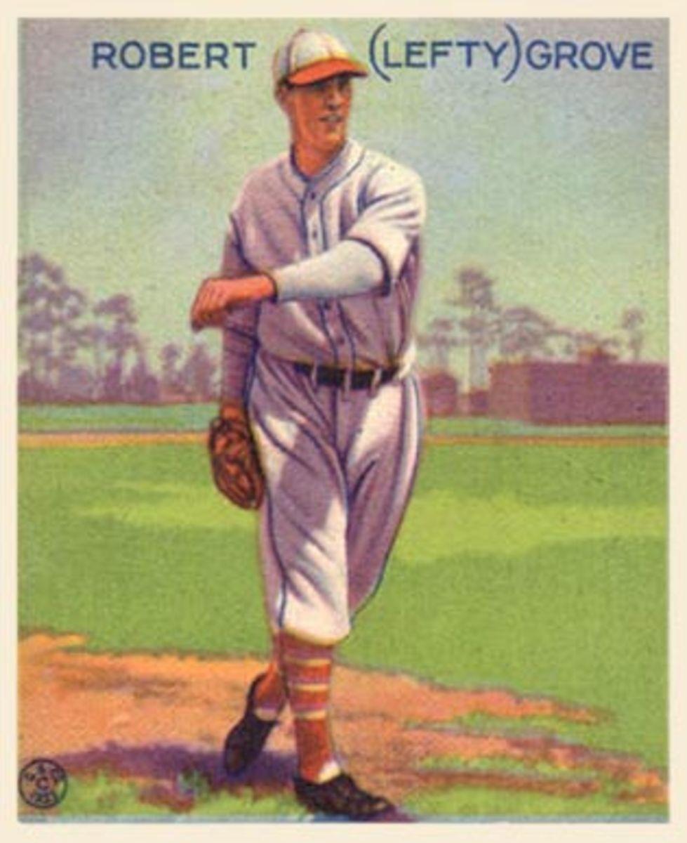 Lefty Grove's 1933 Goudey baseball card.
