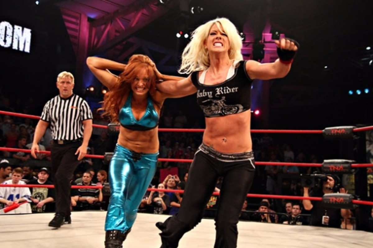 Angelina Love and Christy Hemme