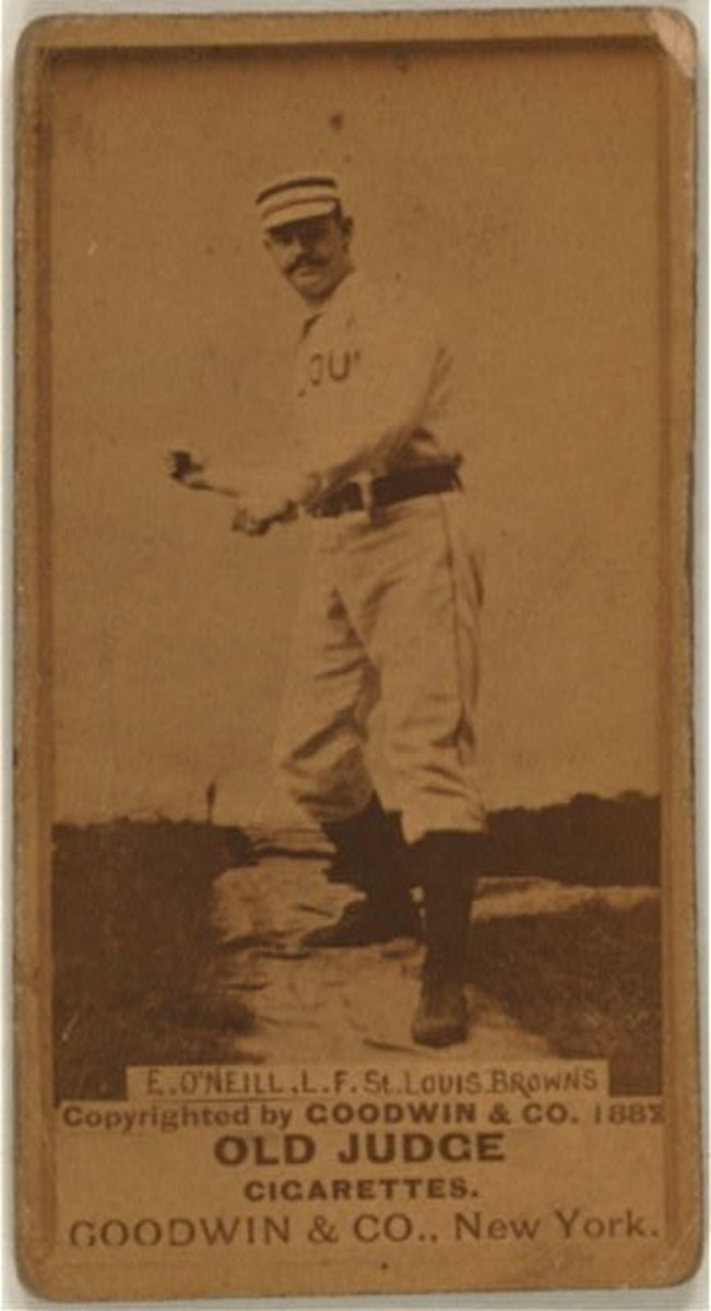 1887 Tip O'Neill Old Judge baseball card from the Benjamin K. Edwards Collection in the Library of Congress.