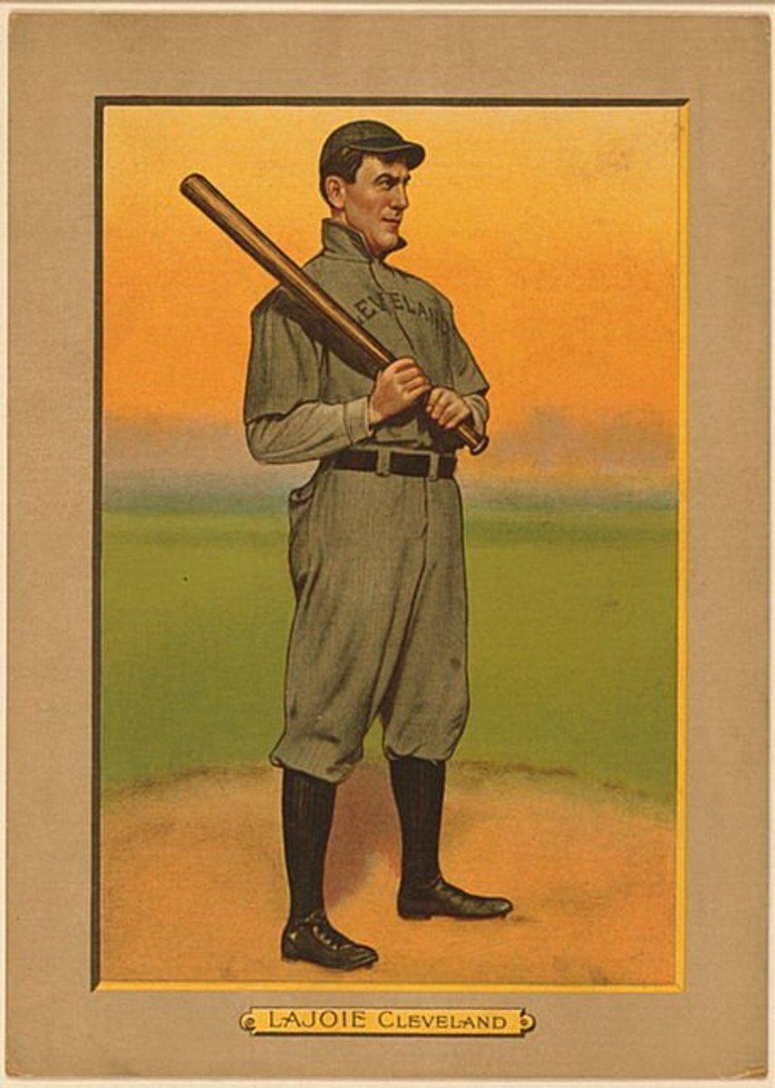 1911 Nap Lajoie American Tobacco Company baseball card.