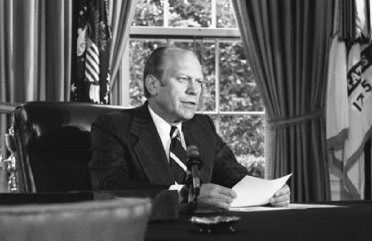 Like Tom Brady, President Gerald Ford played football for the Michigan Wolverines.