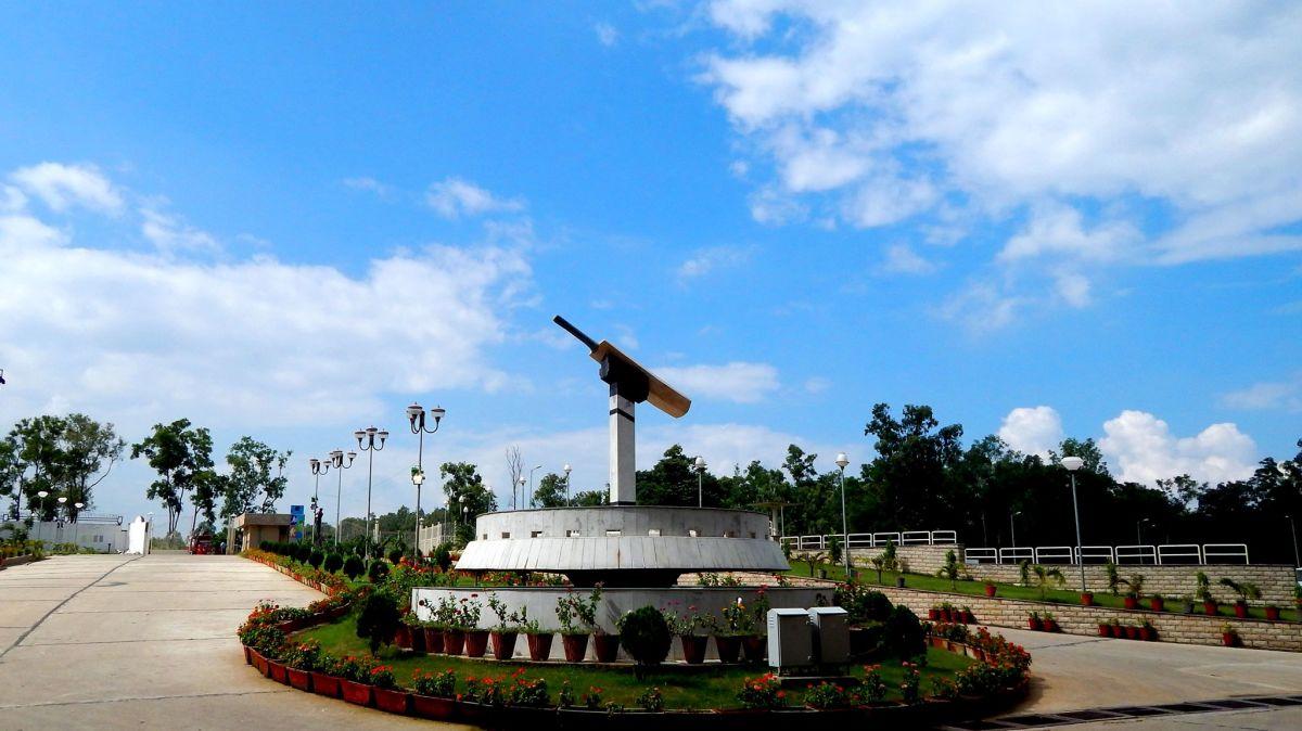 Entrance of the JSCA cricket stadium