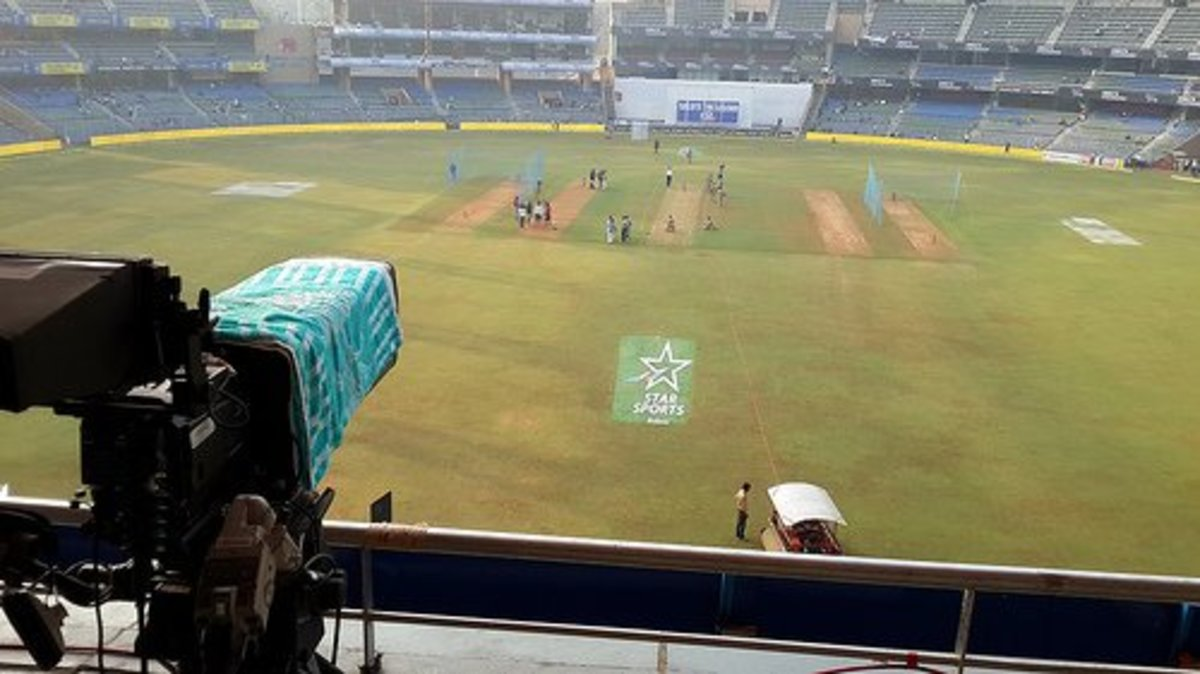 A shot taken from the third tier of the Sachin Tendulkar stand.