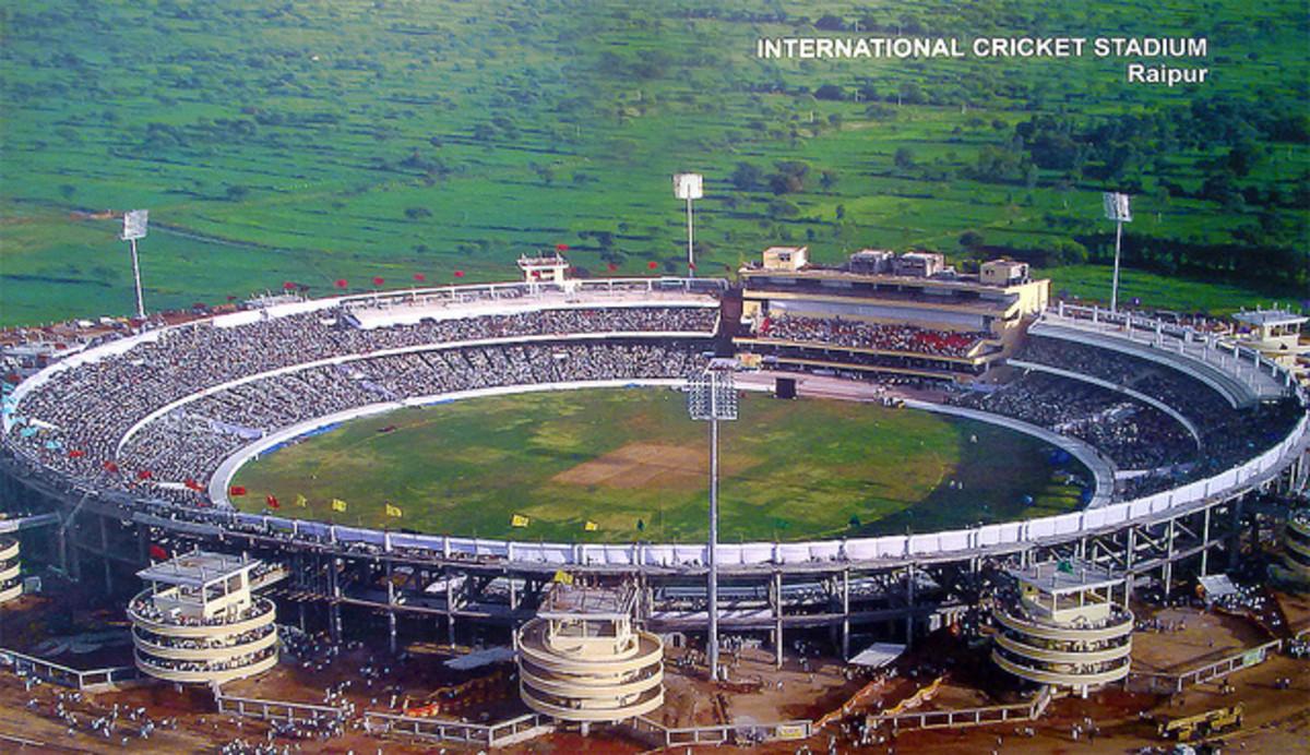 The Raipur International Cricket Stadium at Chhattisgarh