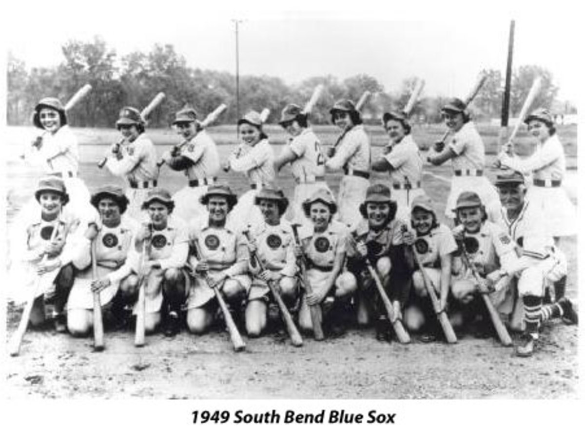 South Bend Blue Sox women's baseball team.