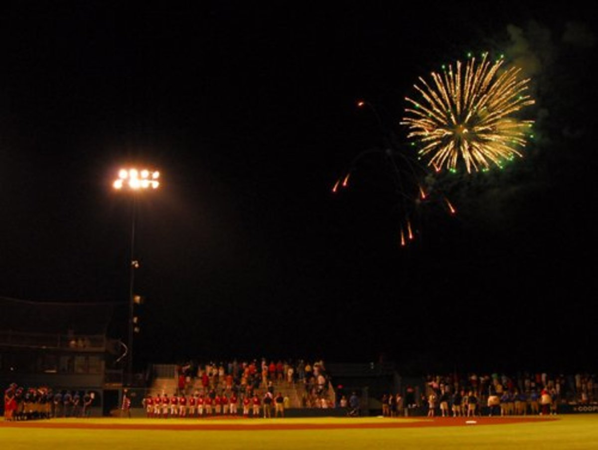 Fireworks Display before Championship Game