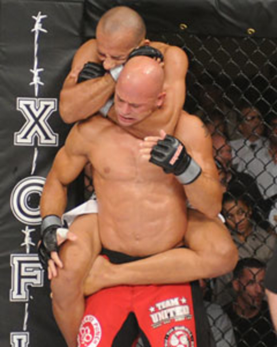 The legs wrapped tightly round, mean that the man being choked can't throw the choker off him.