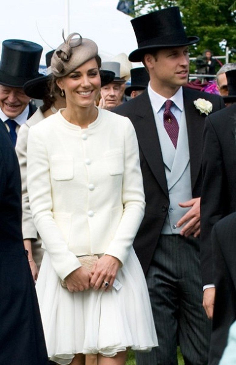 Prince William and Kate Middleton, now the Duchess of Cambridge, at the Epsom Derby