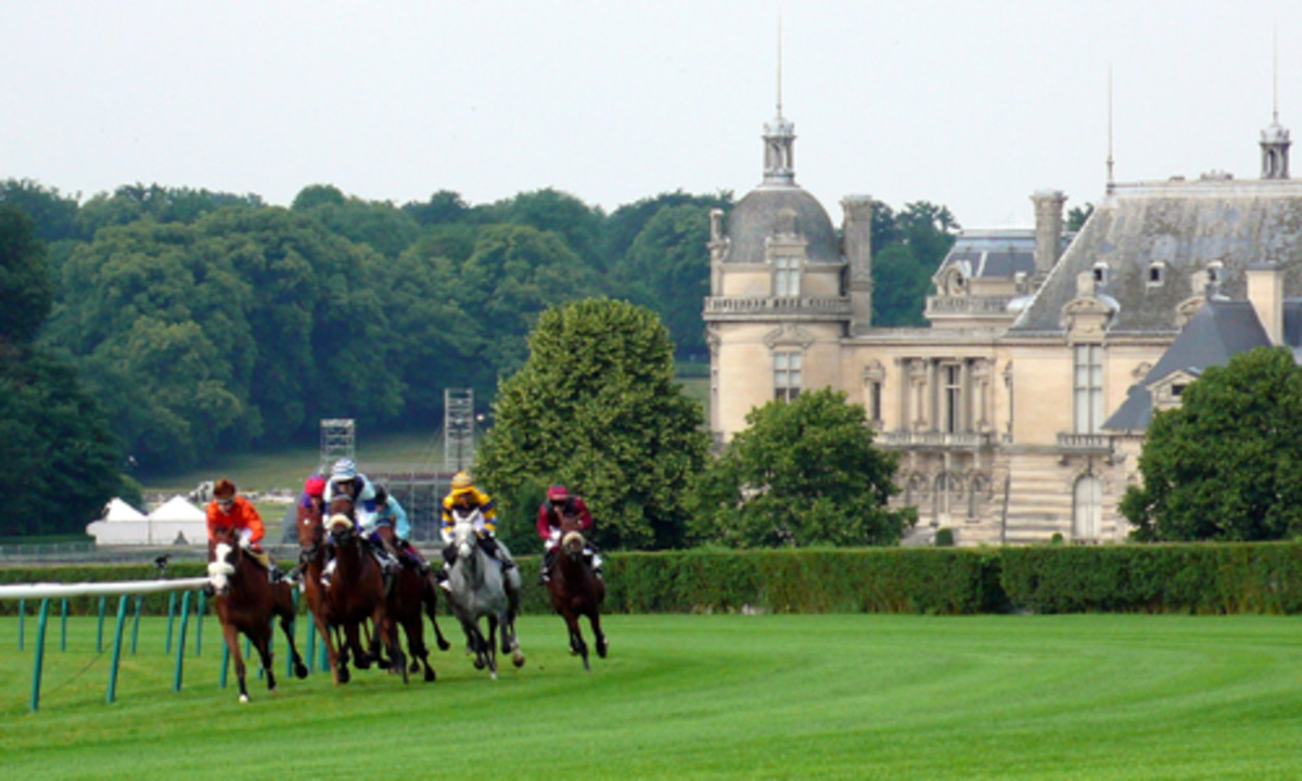 Idyllic scenery at the Chantilly racecourse in France