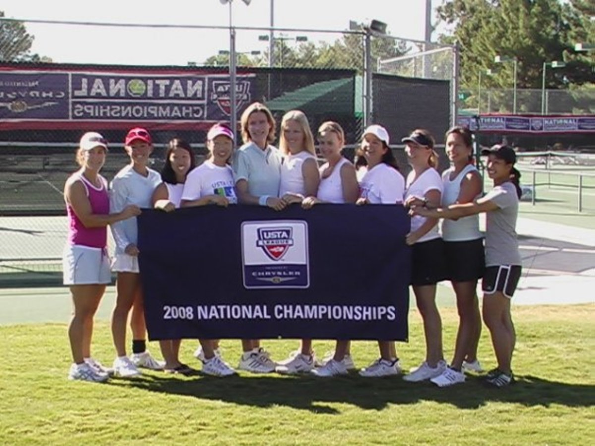 The 2008 Golden Gate Park Women's 4.5 team representing USTA Norcal at the Adult League National Championships, October 2008.