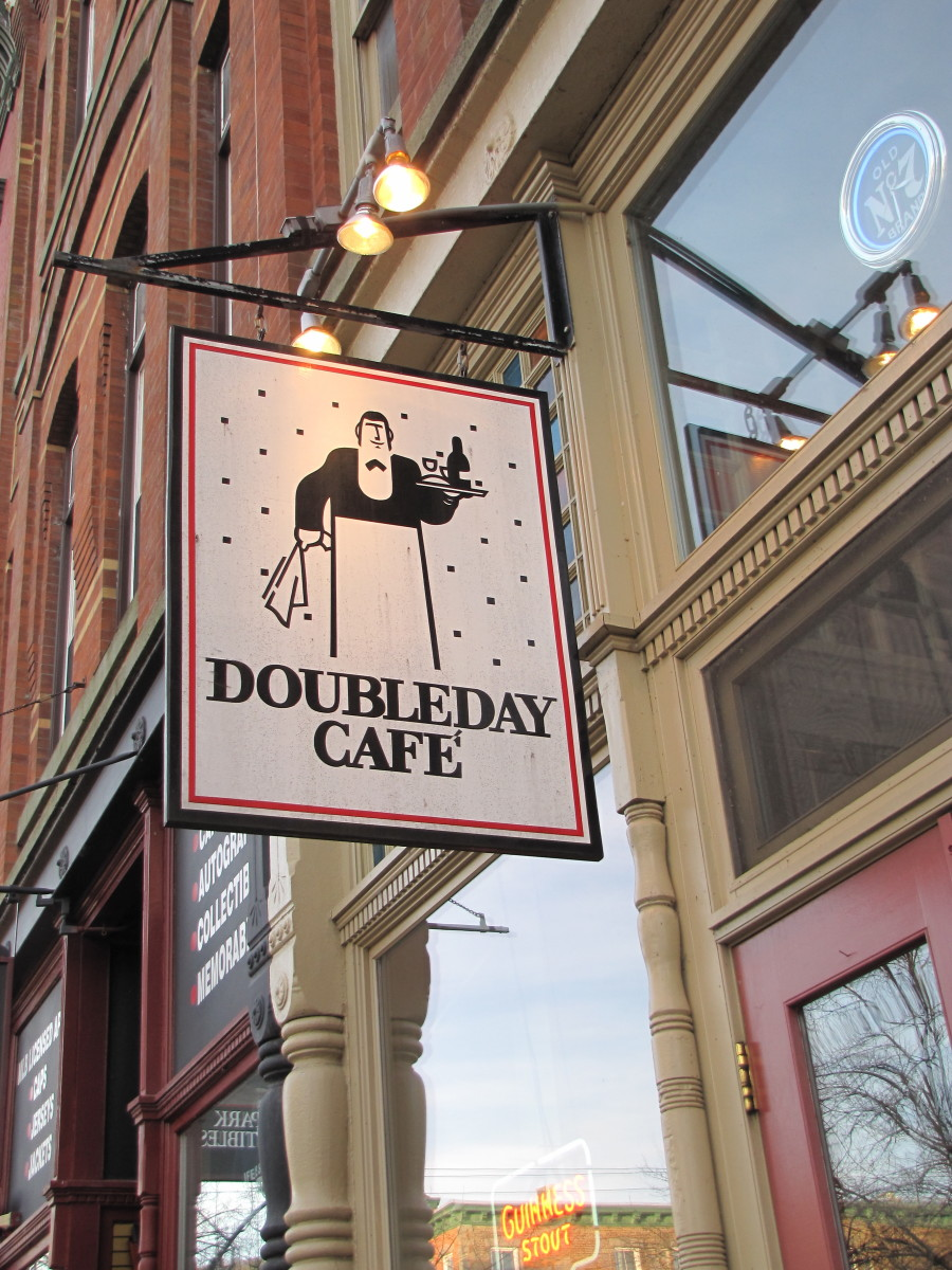 Doubleday Cafe, great spot for lunch.