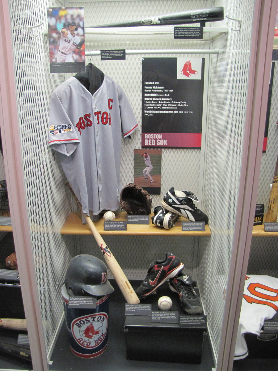 Red Sox locker