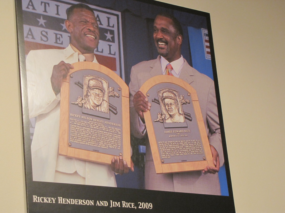 Ricky Henderson and Jim Rice