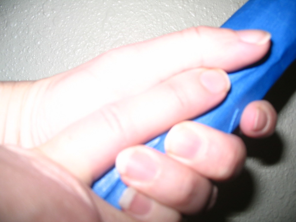 There should be enough room to insert the index finger on your other hand in between the fatty part of your thumb and your ring finger.