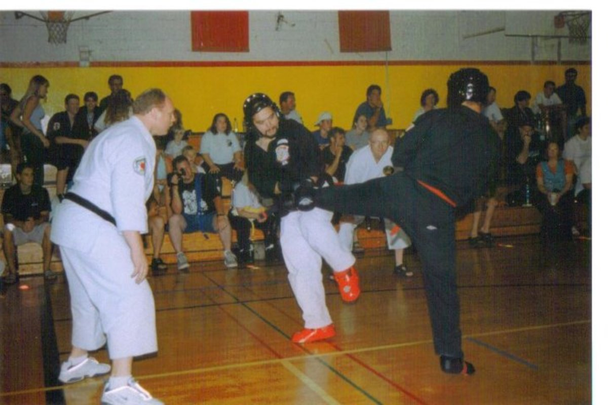 It is important to wear protection when you are sparring to cut down on and avoid injuries.