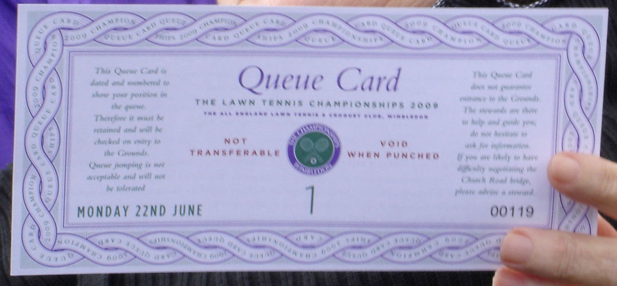 The all important queue card