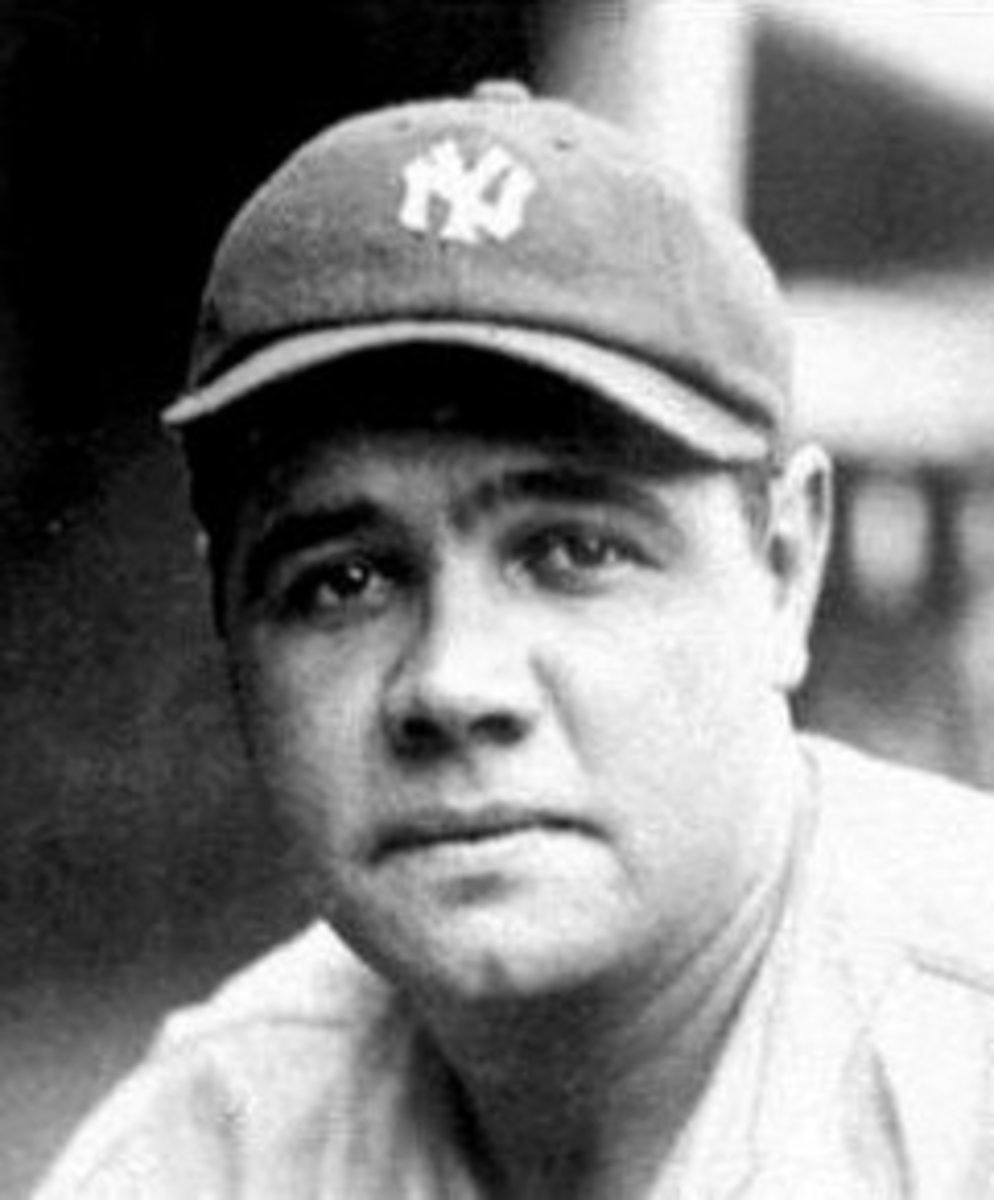 Babe Ruth of the New York Yankees