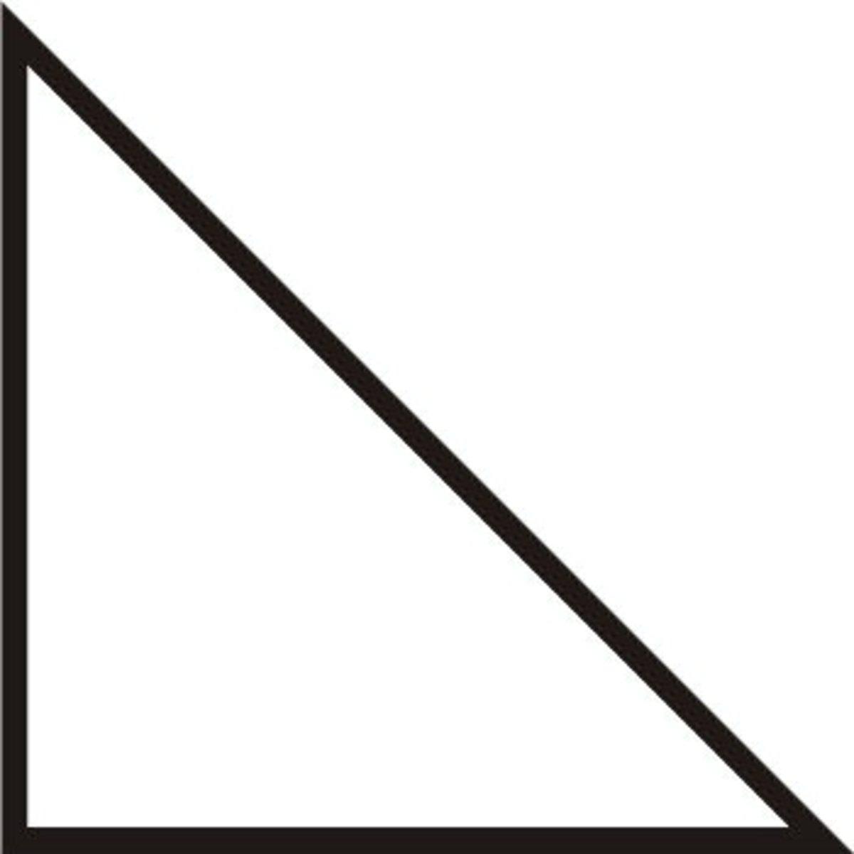 A right triangle