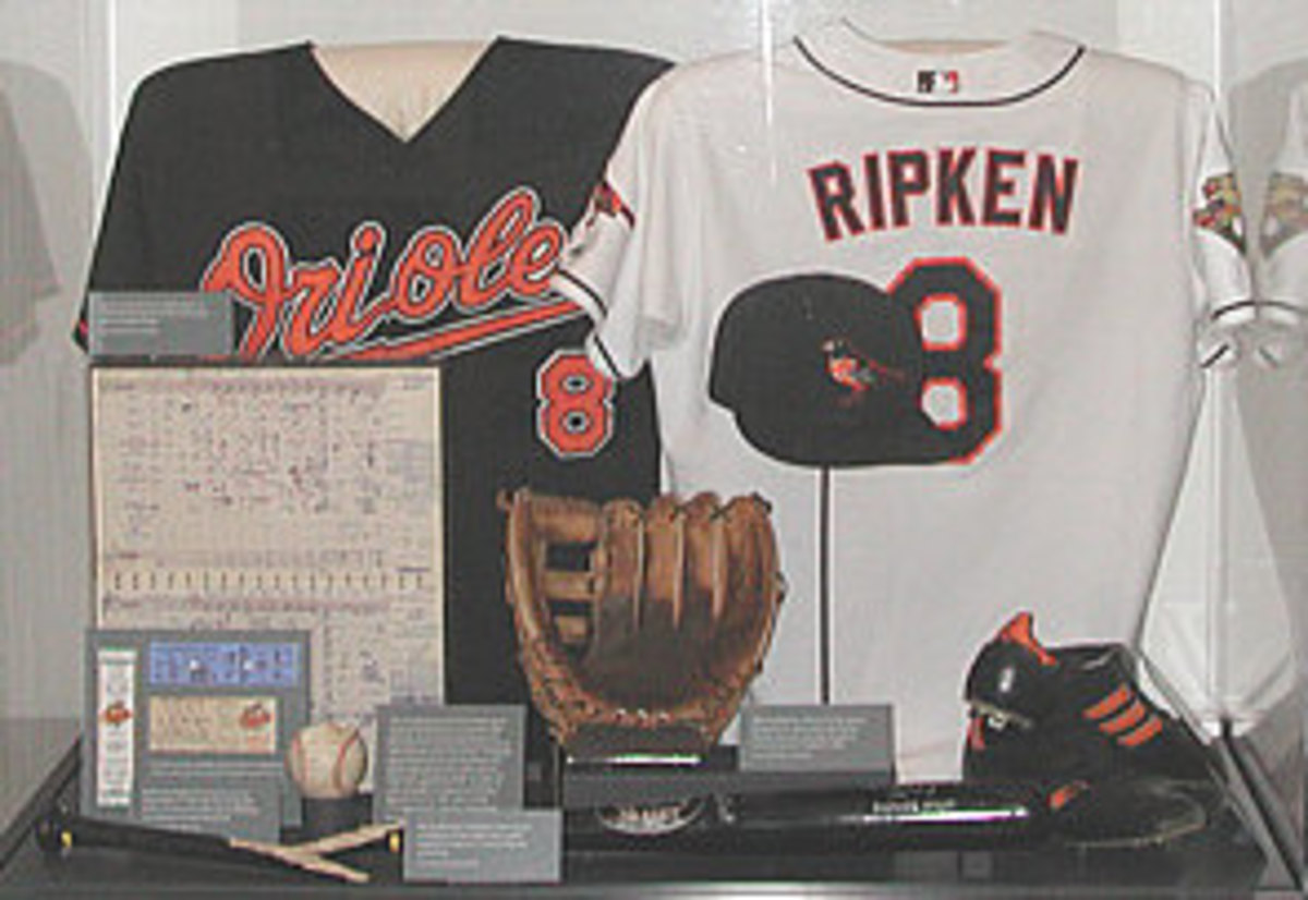 Cal Ripken Jr.'s display at the Baseball Hall of Fame in Cooperstown, New York