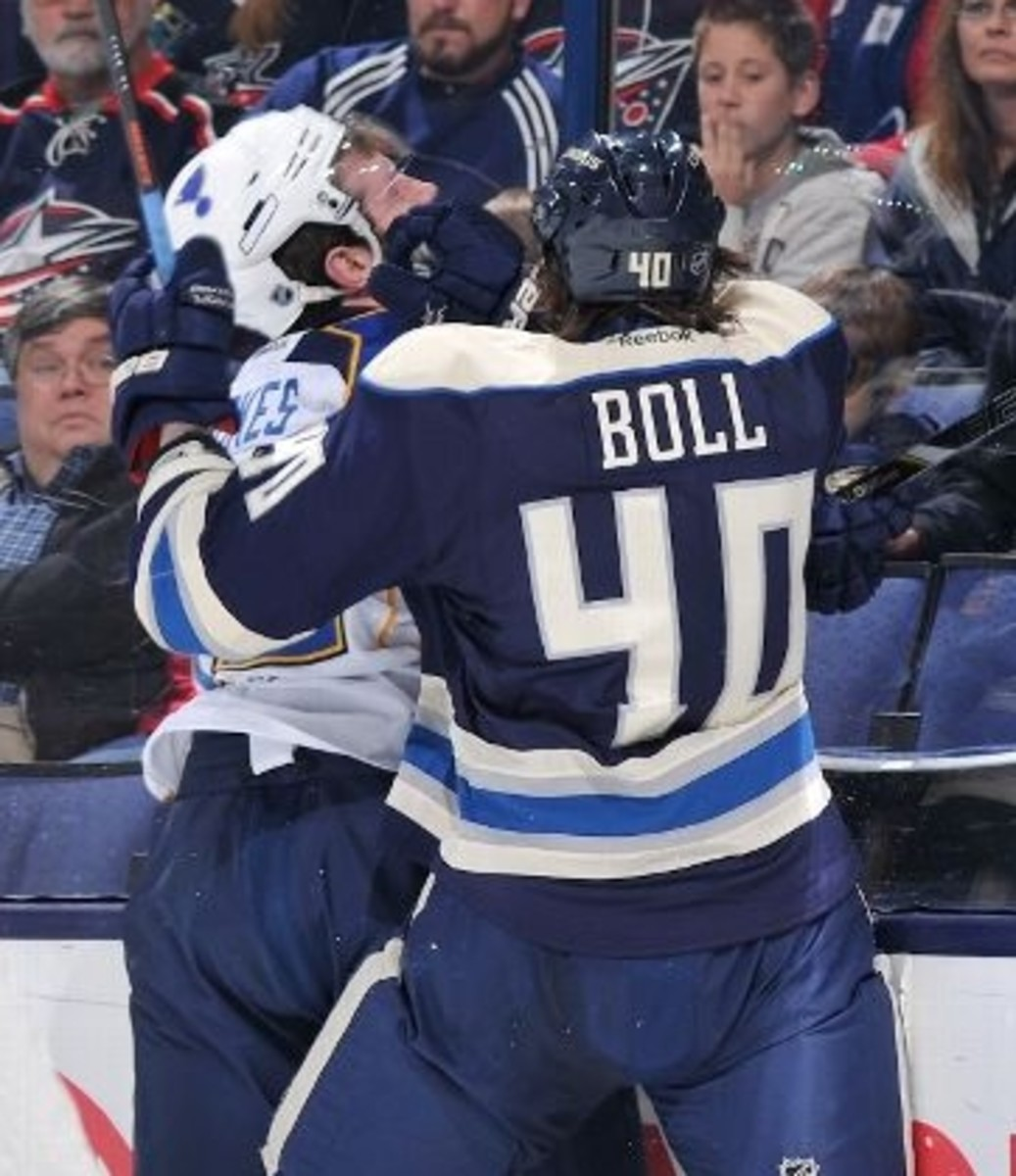 Jared Boll, RW, Columbus Blue Jackets