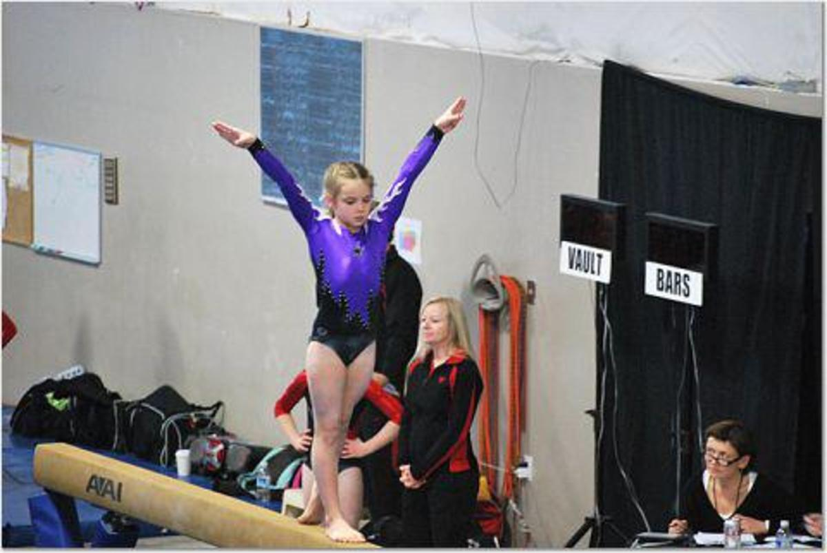 Beam routine at Level 6 Compulsory Girls' State Meet Oregon 2011
