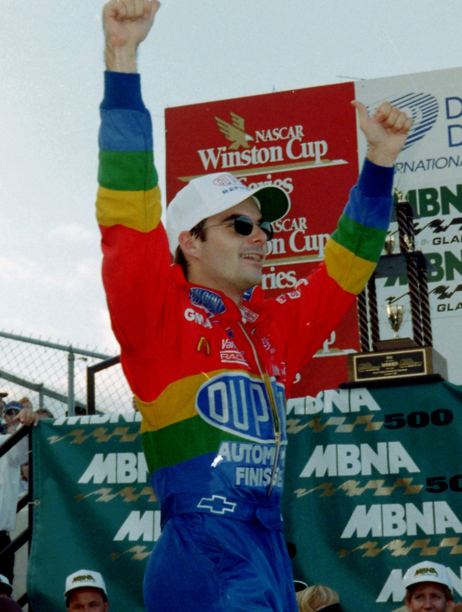 Jeff Gordon 1995 NASCAR Photography Winners Circle 1995 MBNA 500 Dover Downs