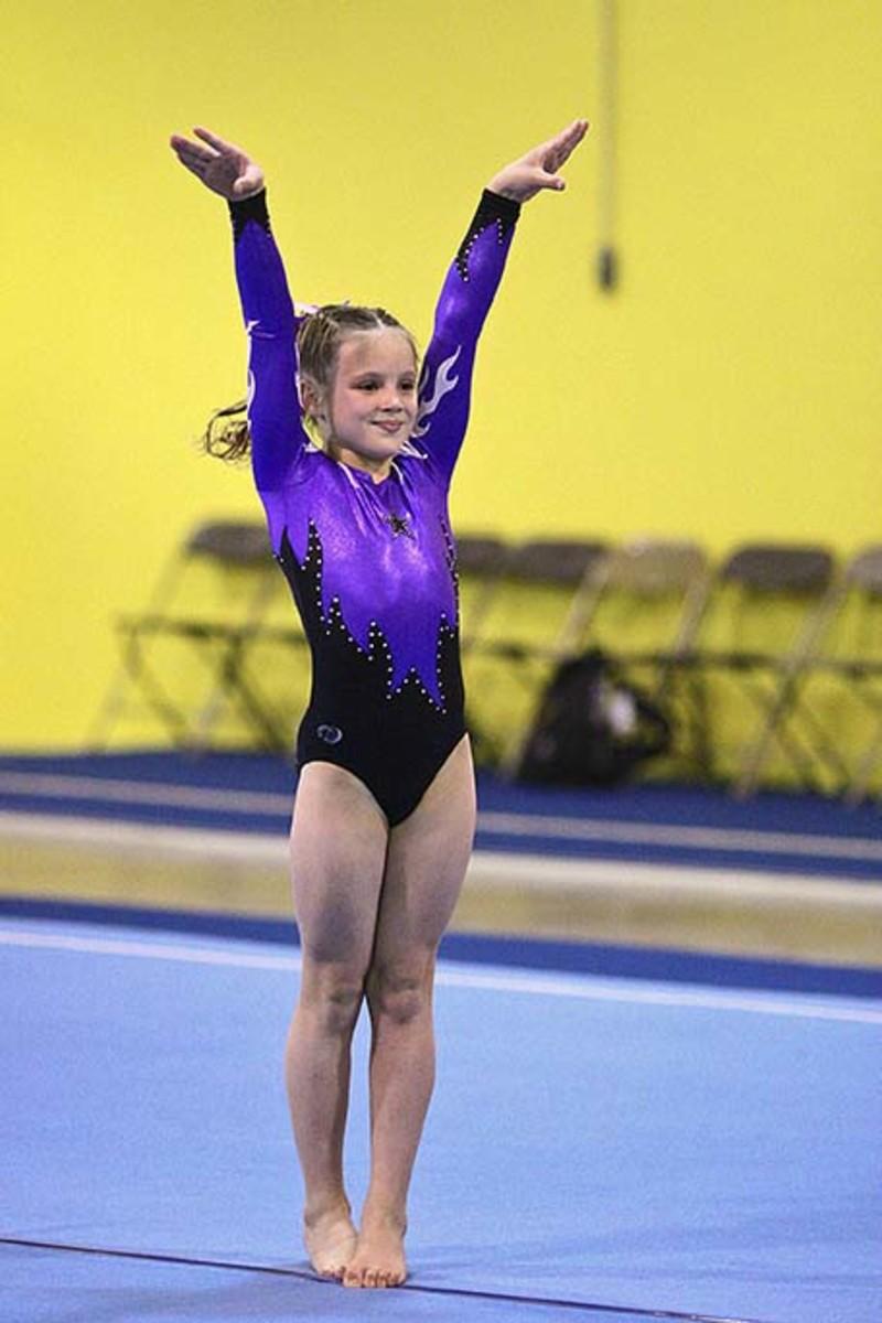 Level 6 Girls Gymnastics Floor Routine (5/5)