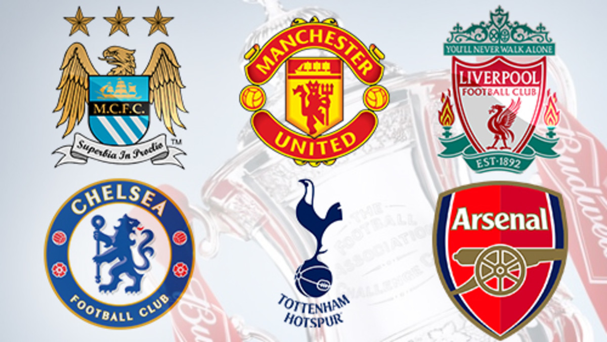 The top 6 clubs in the EPL.
