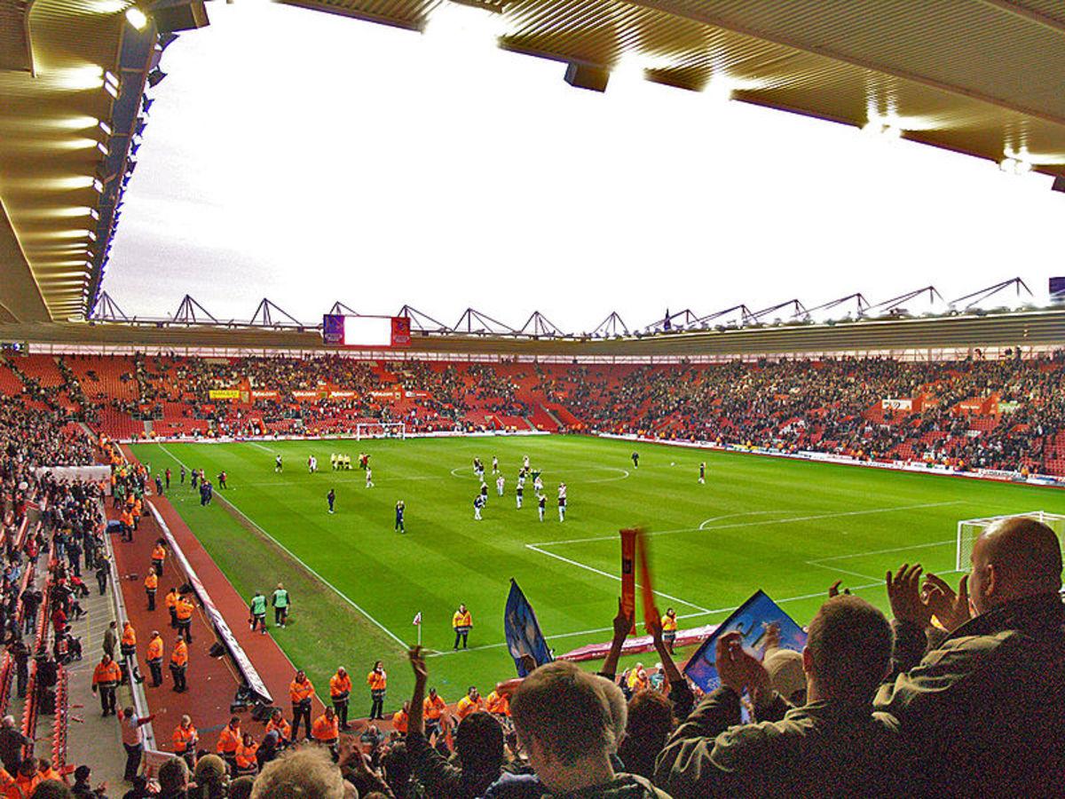 St Mary's Stadium, home of Southampton FC