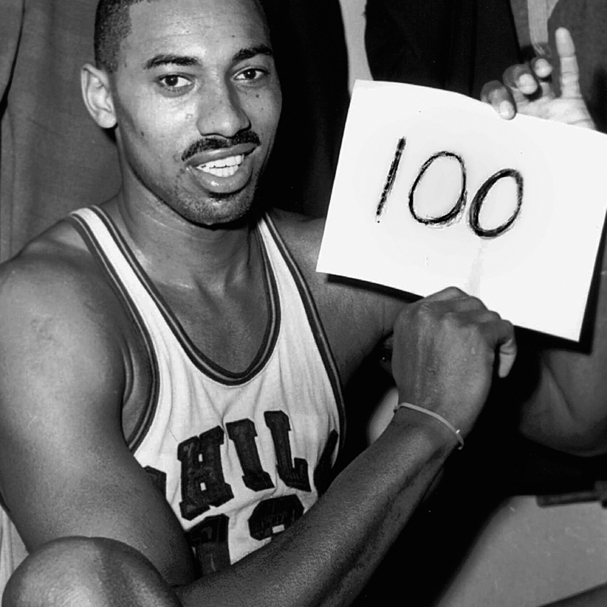 Wilt Chamberlain boasts his 100 score achievement.
