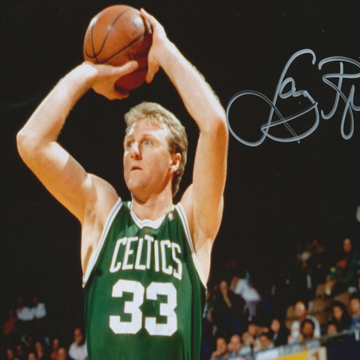 Larry Bird's sensational three-point shot.