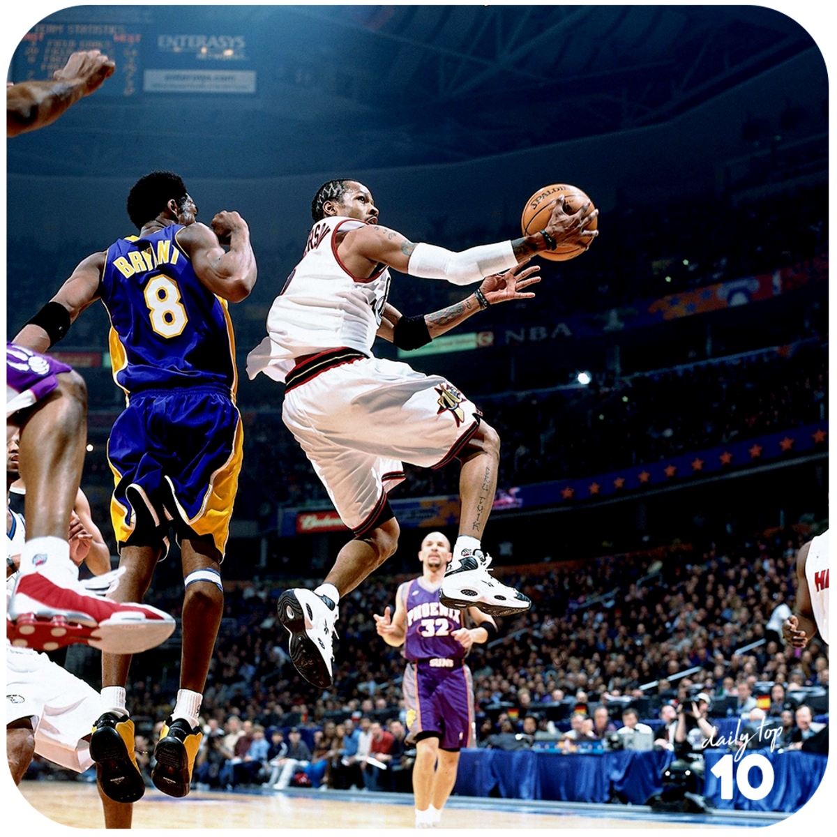 Allen Iverson hang time.