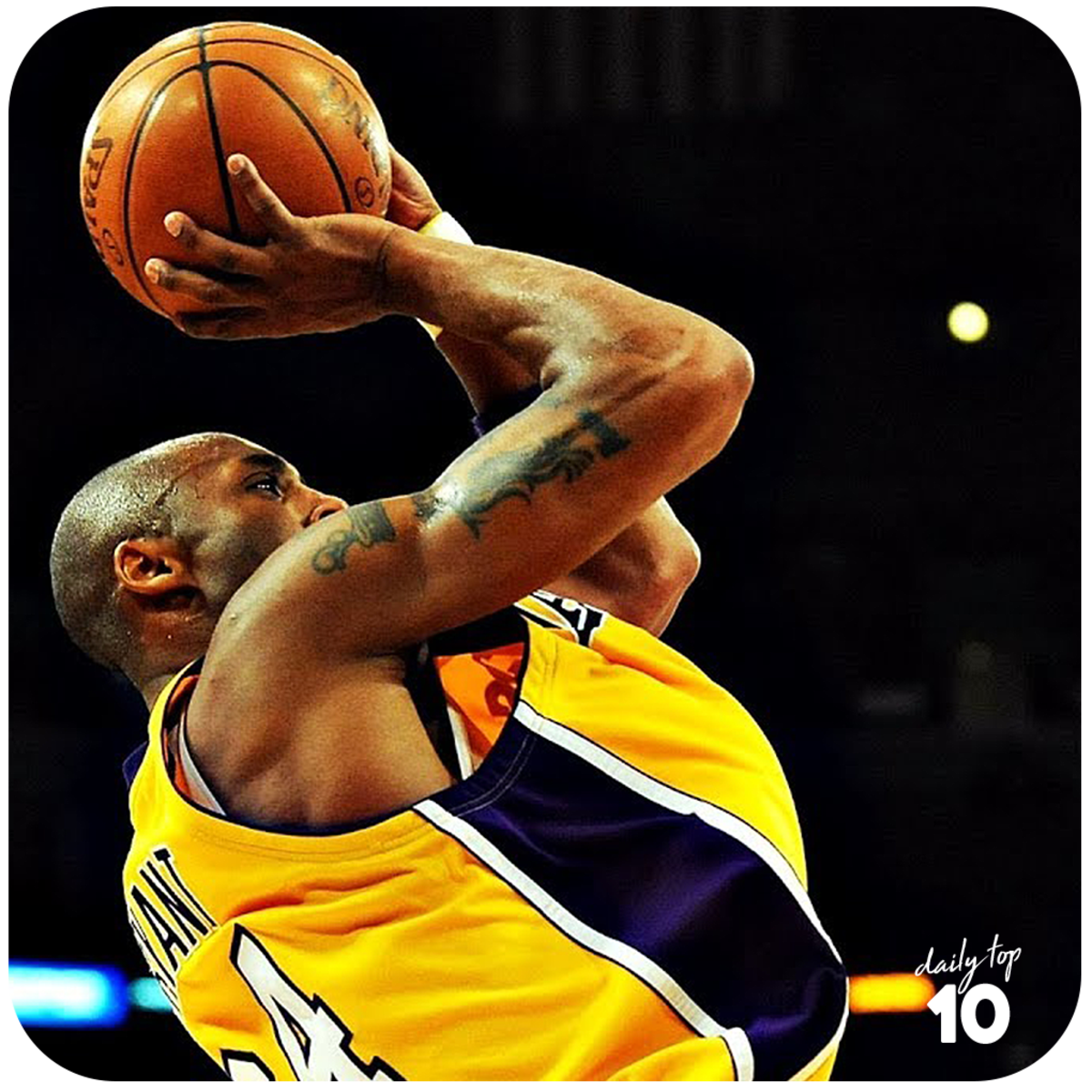Kobe Bryant's fade away shot.