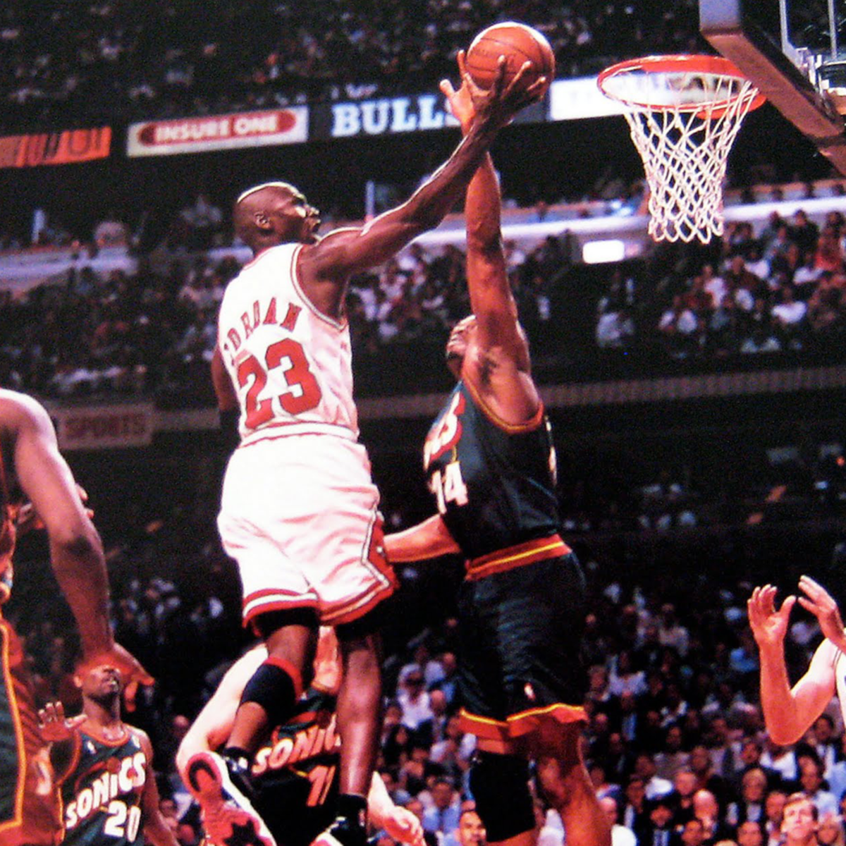Michael Jordan can penetrate even the tightest defense to score particularly during crunch time.