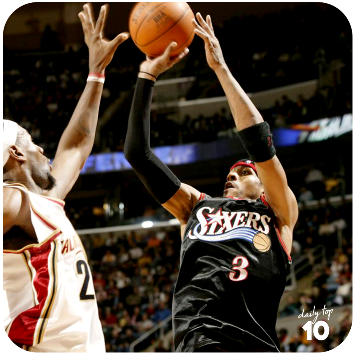 Allen Iverson making a jumpshot.