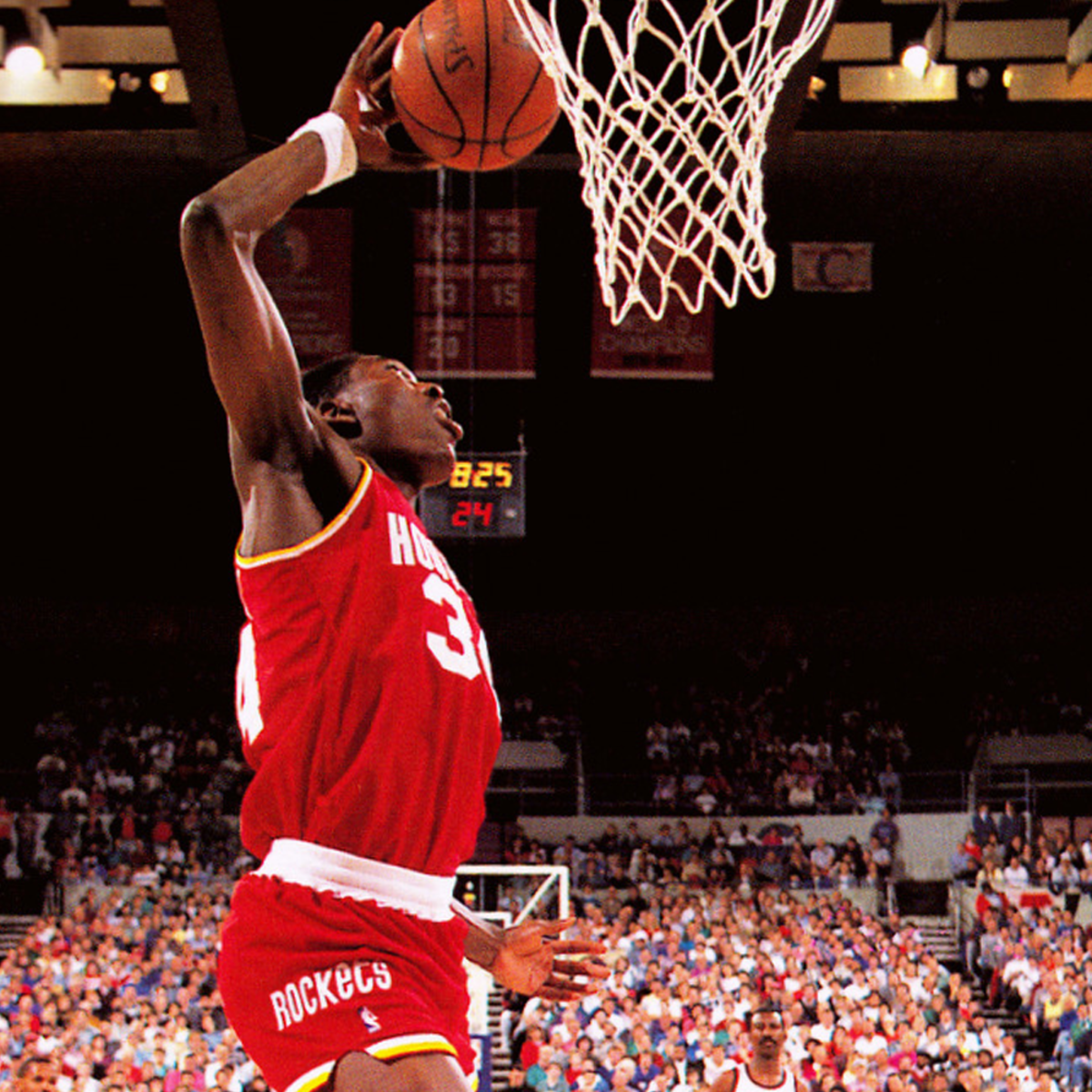 Hakeem Olajuwon's mighty dunk.